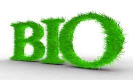 Bio. Letras com grama nela. Imagem de Stock Royalty Free