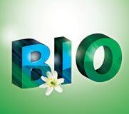Bio- lettere 3D Immagine Stock