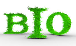 Bio. Letters with grass on it. Royalty Free Stock Image