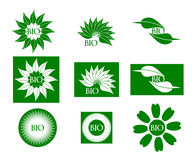 Bio logo illustration de vecteur