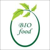 Bio logo et symbole de nourriture de vecteur illustration stock