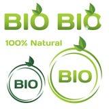 Bio logos. Set of bio organic logos/stamps Stock Photo