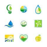 Bio- logos di ecologia dell'ambiente astratto dell'azienda agricola Fotografia Stock Libera da Diritti
