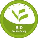 Bio logotipo certificado da qualidade Imagem de Stock