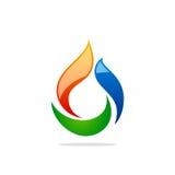 Bio logotipo do sumário do gás Imagem de Stock
