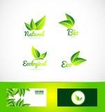 Bio logotipo orgánico del producto del eco stock de ilustración