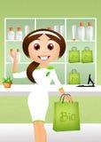 Bio loja Foto de Stock Royalty Free