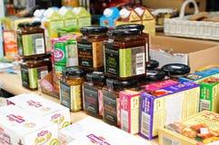 Bio loja dos produtos no ar aberto Fotografia de Stock Royalty Free