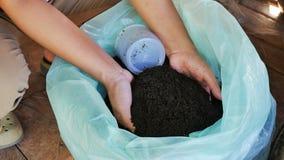 Bio lombriz de tierra del fertilizante imagenes de archivo