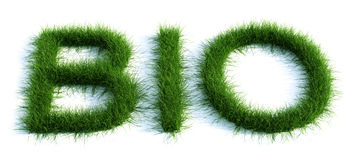 Bio made of grass Stock Images