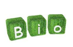 Bio--marchio isolato su priorità bassa bianca Fotografia Stock Libera da Diritti