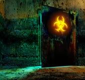 Bio matériau de danger de risque illustration libre de droits