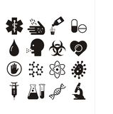 Bio medical icons Royalty Free Stock Images