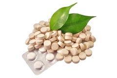 Bio medicina de las tablillas de las píldoras Fotografía de archivo
