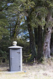 Bio mobile toilet in camping side milfordsound fiordland nationa Royalty Free Stock Photos