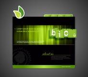 Bio- modello di Web site Immagine Stock