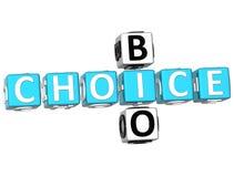 bio mots croisé 3D bien choisis Images libres de droits