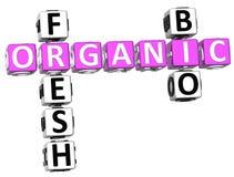 Bio mots croisé organiques frais illustration de vecteur