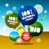 BIO - 100% natürliche Vektor-Blasen Lizenzfreie Stockfotos