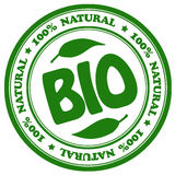 Bio natural stamp stock illustration
