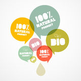 BIO - Natural Transparent Bubbles. 100 % BIO - Natural Transparent Vector Bubbles Stock Photography