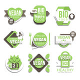 Bio Natural Vegan Product Logo Collection Stock Images