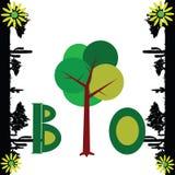 Bio nature art vector illustration Stock Image