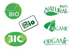 Bio Natuurlijke Organische Etiketten Royalty-vrije Stock Fotografie