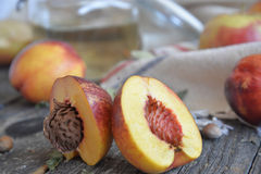 Bio nectarine. For a healthy life Stock Photography