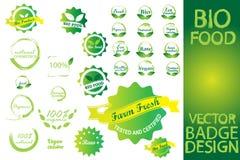 Bio nourriture Logo Set d'insigne illustration de vecteur
