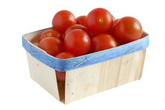 Bio nourriture - tomates-cerises Image libre de droits