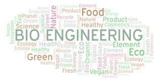 Bio- nuvola di parola di ingegneria royalty illustrazione gratis