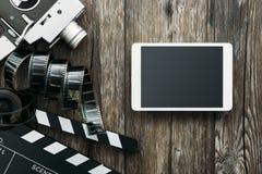 Bio- och filmproduktion Arkivfoto