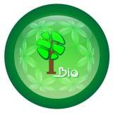 Bio och naturproduktetikett Royaltyfri Bild