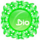 Bio och naturproduktetikett Royaltyfria Foton