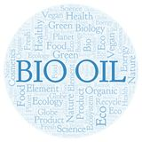 Bio Oil word cloud. Wordcloud made with text only vector illustration