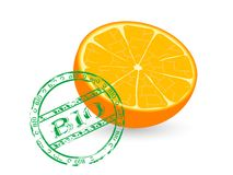 Bio orange Stock Photo