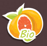 Bio orange tag Stock Photos