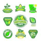 Bio - orgánico - sistema natural del icono Fotos de archivo
