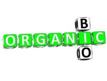 Bio Organic Crossword. 3D Bio Organic Crossword on white background Stock Photo
