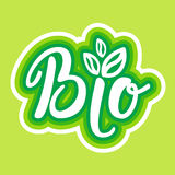 Bio Organic Eco Food Stickers Healthy Lifestyle Royalty Free Stock Images