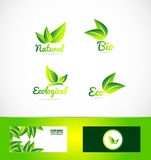 Bio organic eco product logo Stock Photos