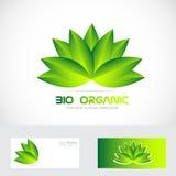 Bio organic flower leafs logo Royalty Free Stock Photography
