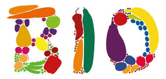 Bio Organic Fruit Vegetables Stock Images