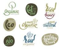 Bio organic gluten. Bio organic gluten free eco bio healthy food restaurant menu logo label templates Stock Photos