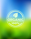 Bio organic label Stock Images