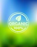 Bio organic label Stock Images