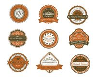 Bio and organic labels Stock Images