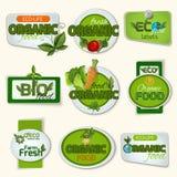 Bio Organic Life Badges Stock Photo