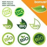 Bio or organic logo Stock Photo
